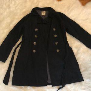 Old Navy black trench coat. Size large NWOT
